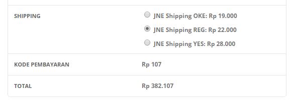 WooCommerce JNE Shipping