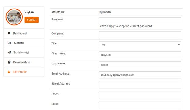 Edit profile Agenwebsite partners